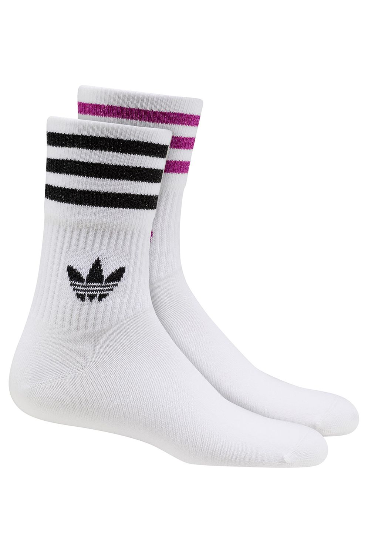 Adidas Socks MID CUT GLT Top:White/White Bottom:Silver Met./Clear Lilac F18