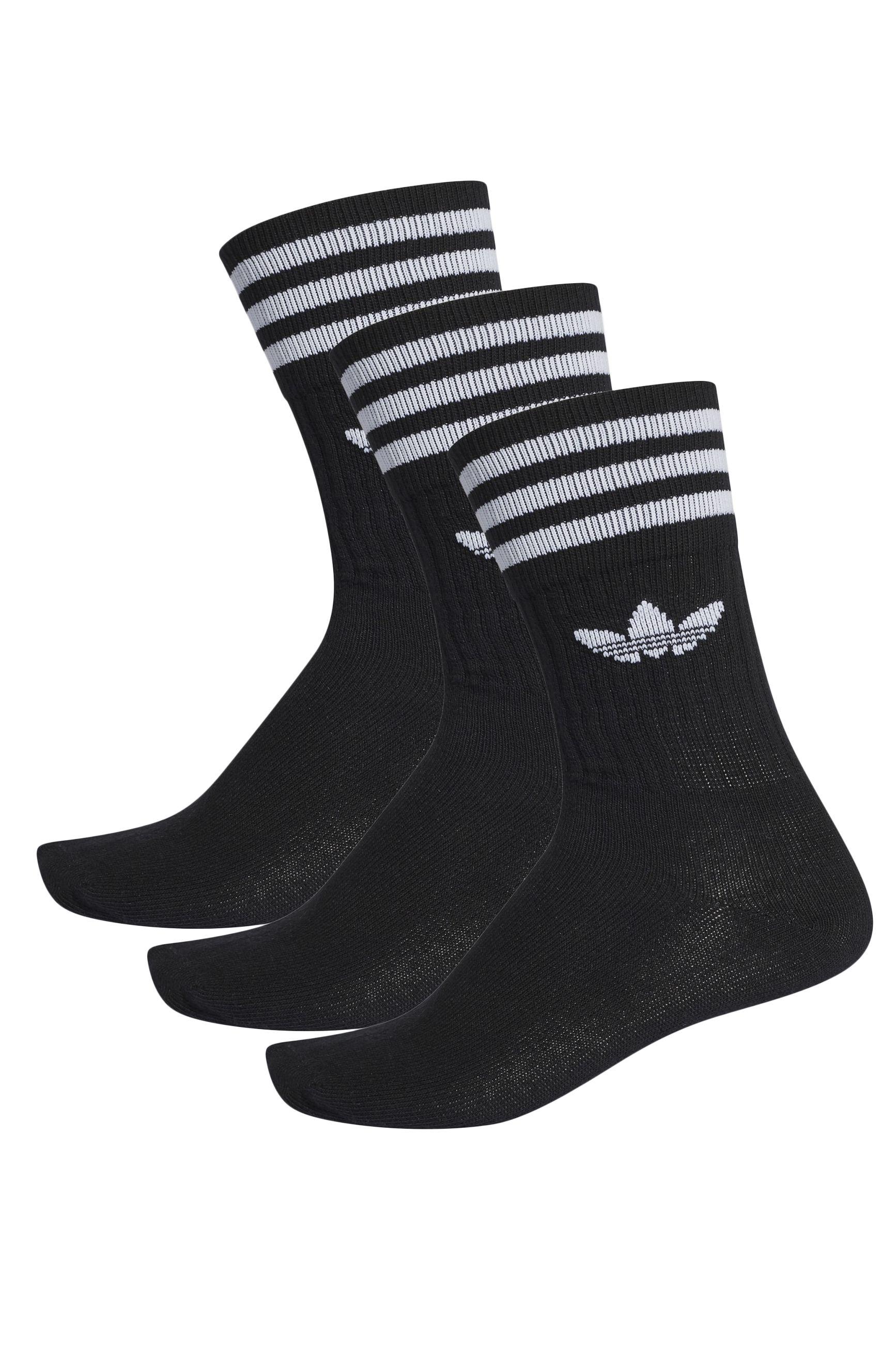 Meias Adidas SOLID CREW SOCK Black/White