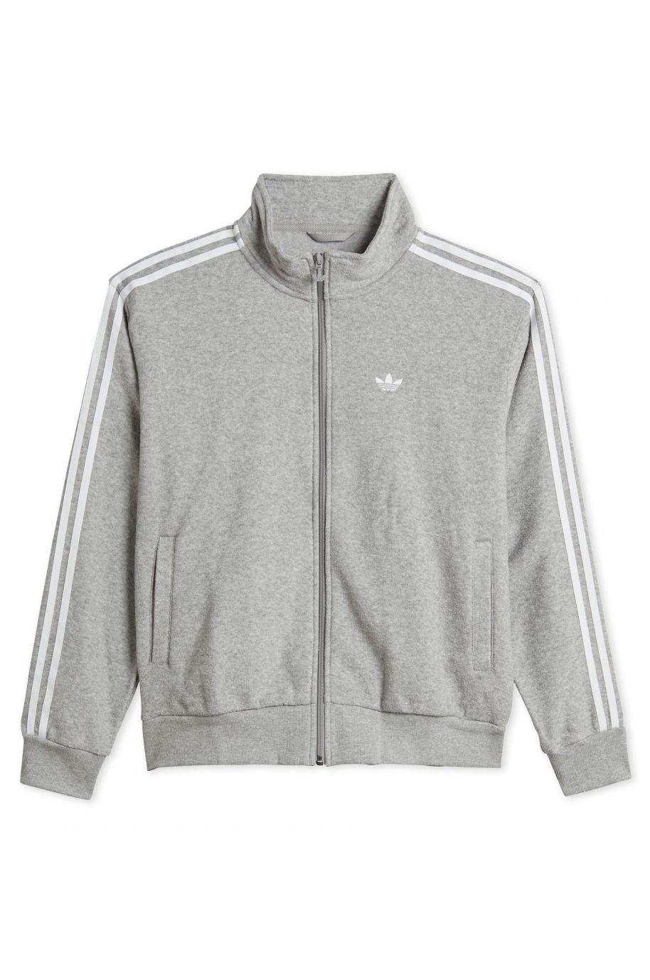 Sweat Fecho Adidas BOUCLE TRACK JK Medium Grey Heather/White