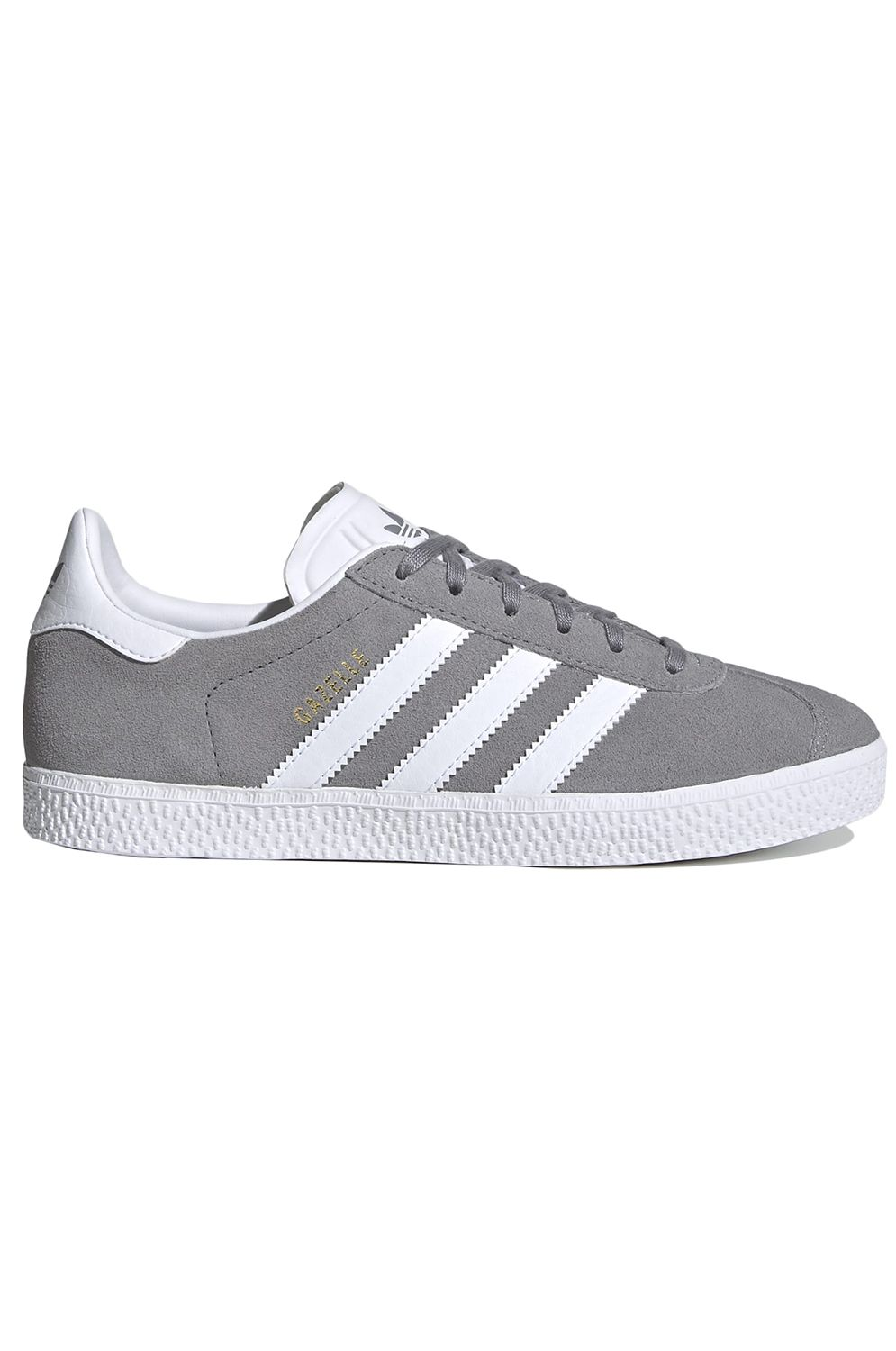 Tenis Adidas GAZELLE J Grey Three F17/Ftwr White/Gold Met.