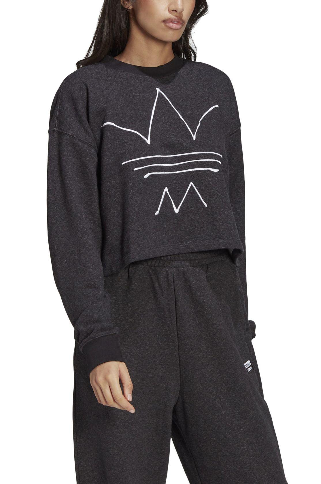 Sweat Basica Adidas SWEATSHIRT Black Melange