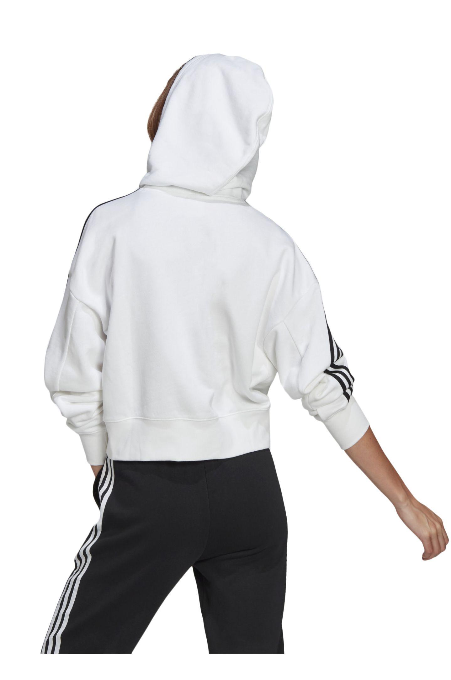 Sweat Capuz Adidas SHORT HOODIE White