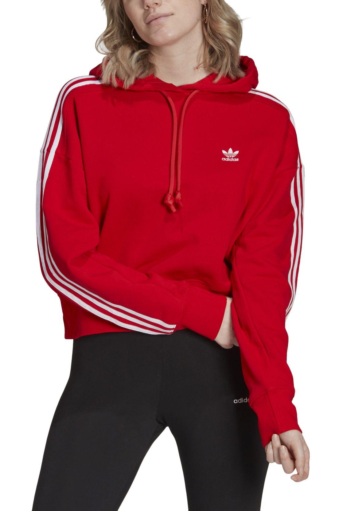 Adidas Sweat Hood SHORT HOODIE Red