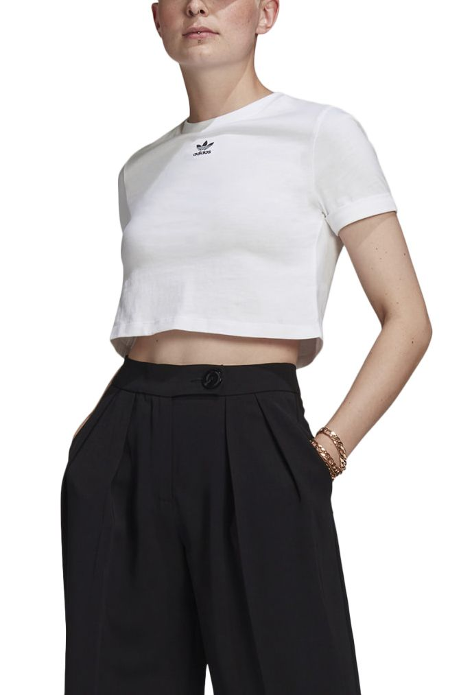 Top Adidas CROP TOP White