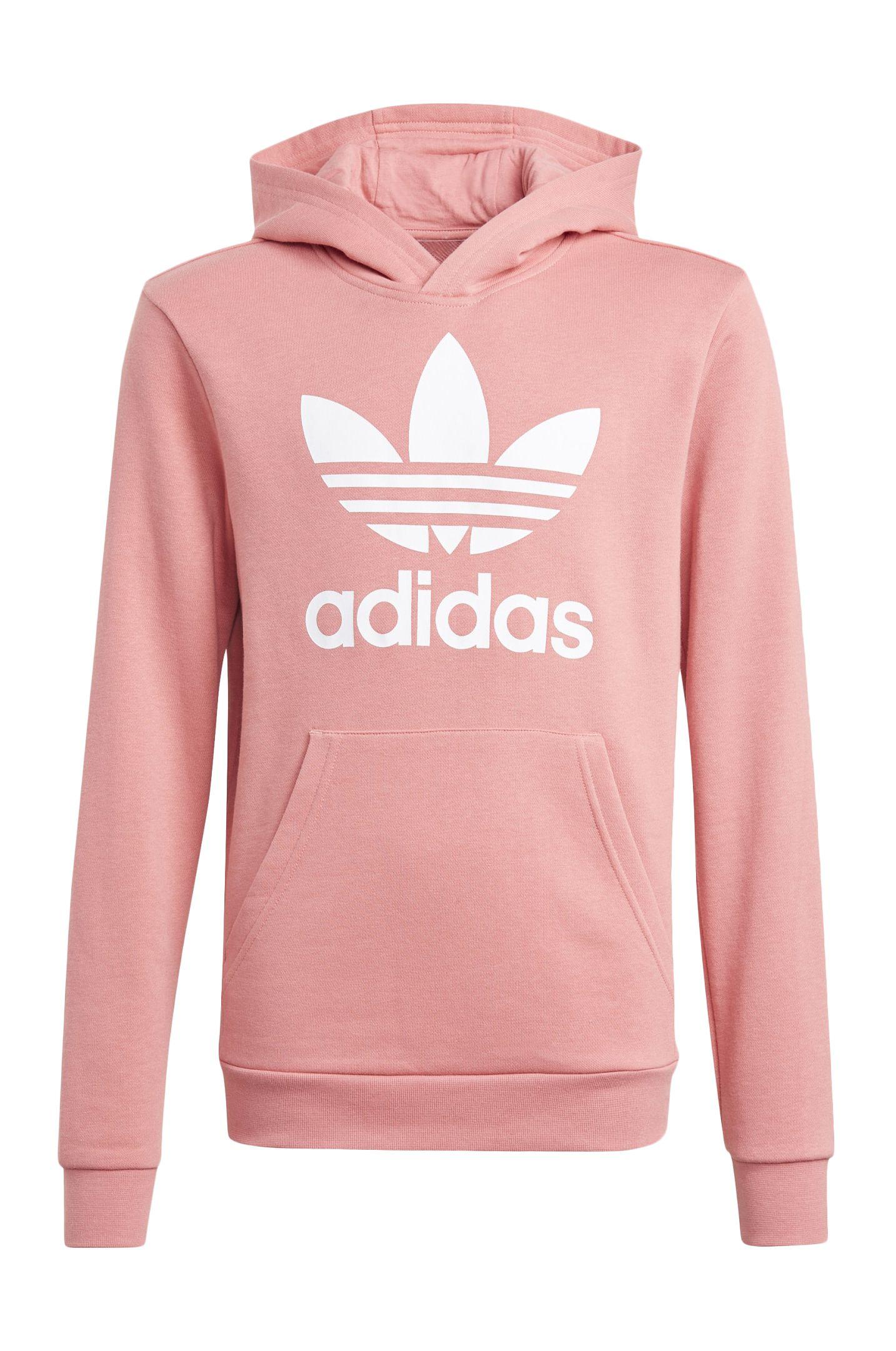 Sweat Capuz Adidas TREFOIL HOODIE Hazy Rose/White