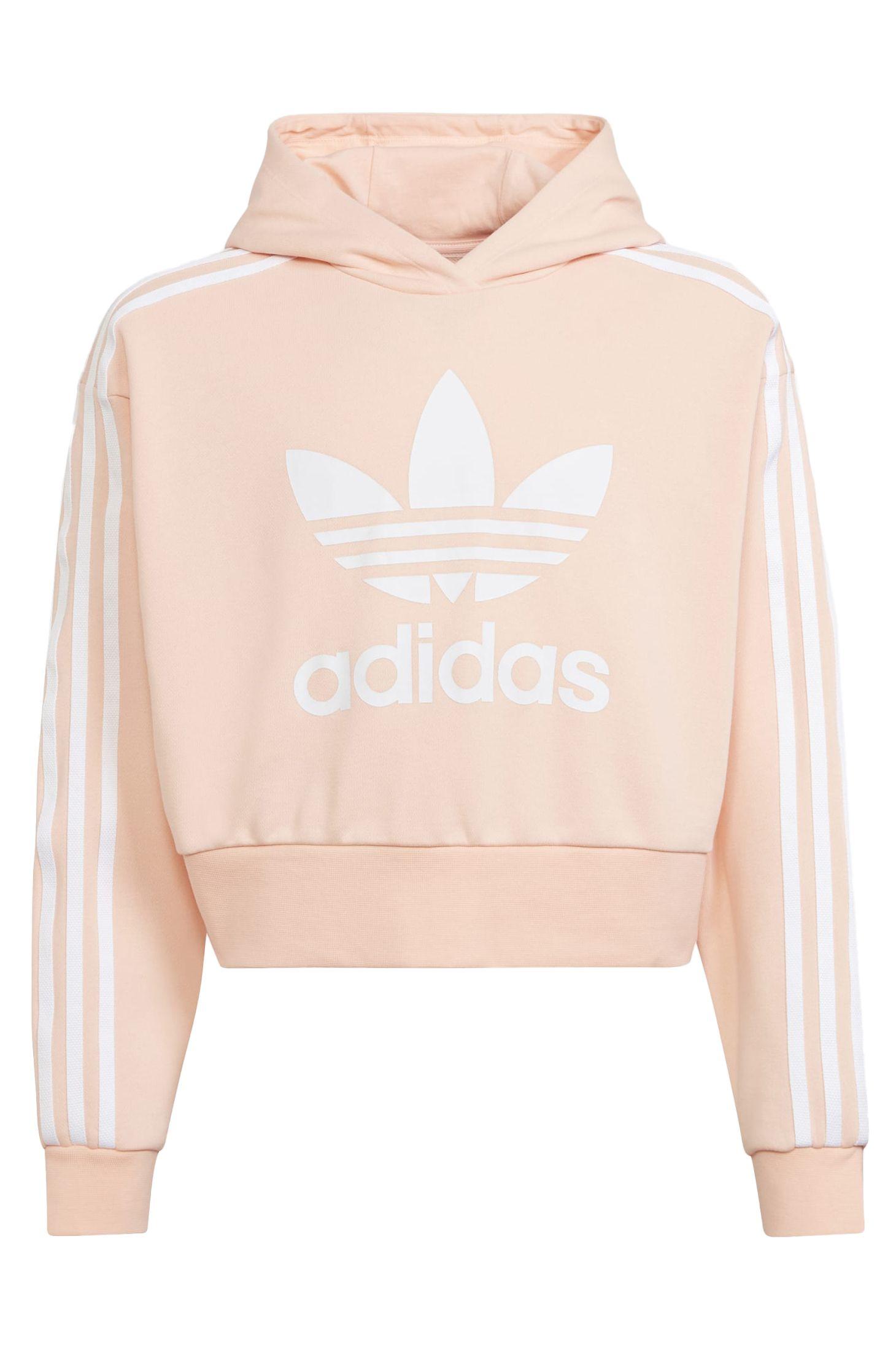 Adidas Sweat Hood CROPPED HOODIE Hazecoral