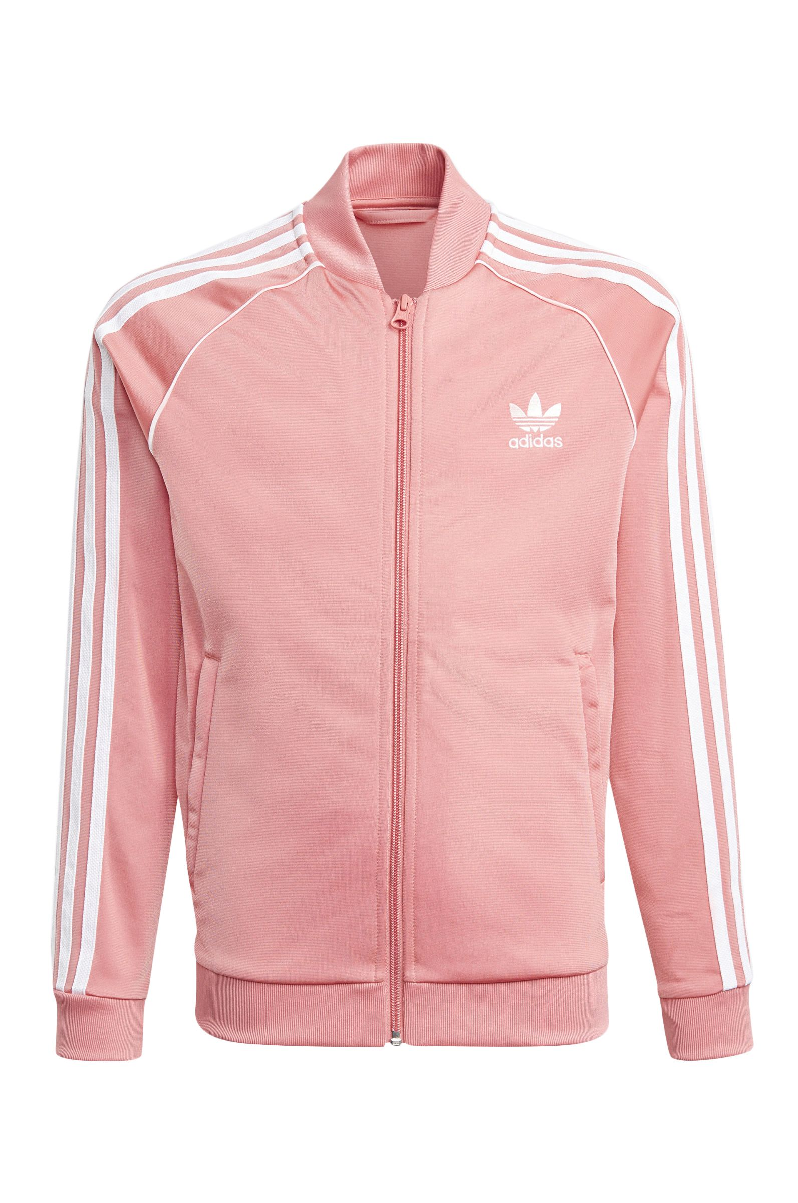 Sweat Fecho Adidas SST TRACKTOP Hazy Rose/White