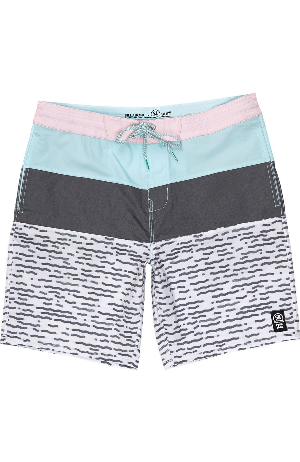 Boardshorts Billabong x 58 Surf TRIBONG RIPPLE LT 18 Black