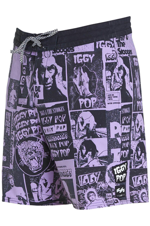 Boardshorts Billabong SUNDAYS POSTER IGGY POP Lilac