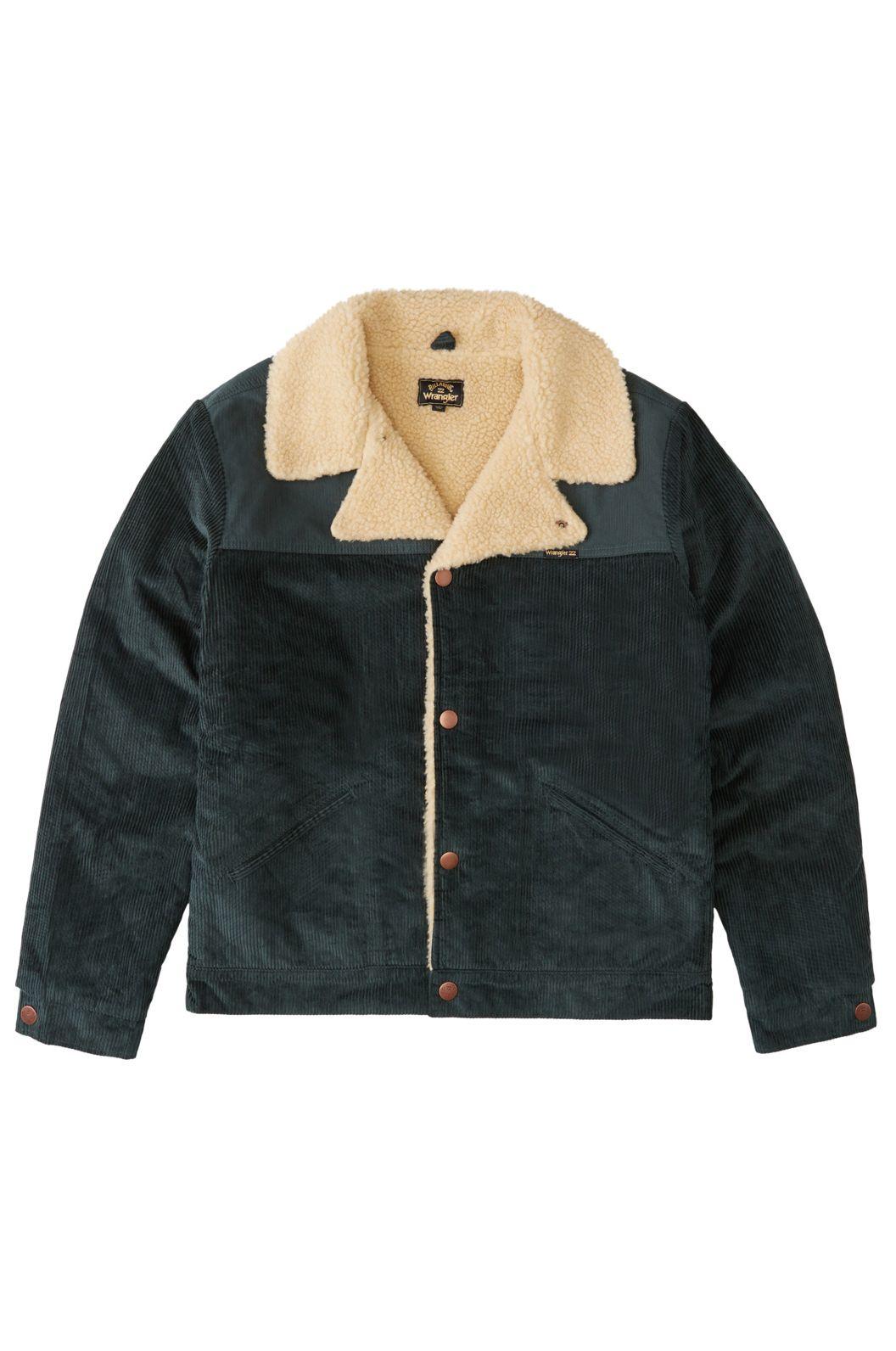 Billabong Jacket RANGE CORD SHERPA JA WRANGLER. Bottle Green