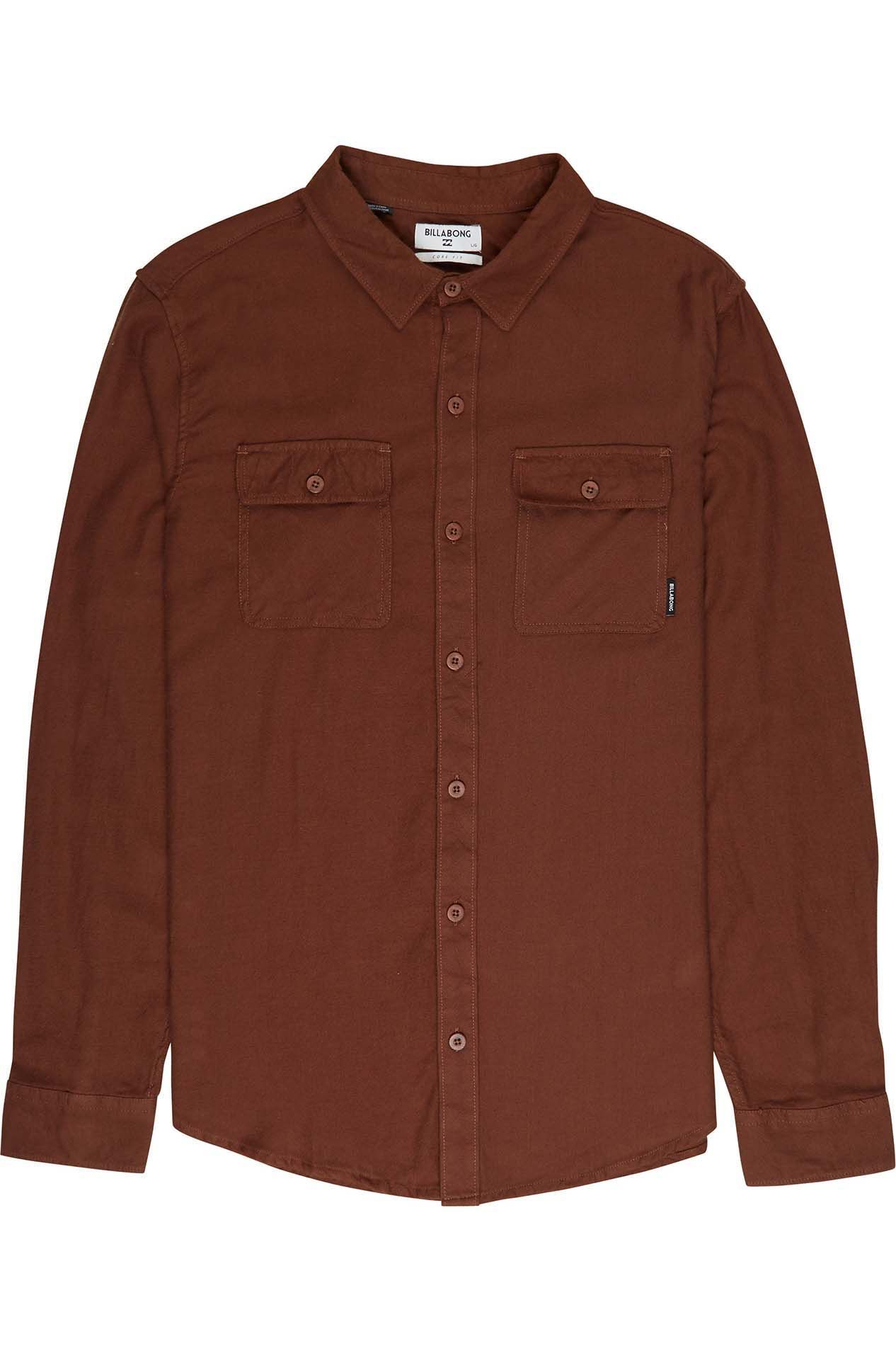 Camisa Billabong ALL DAY FLANNEL LS Rust Brown