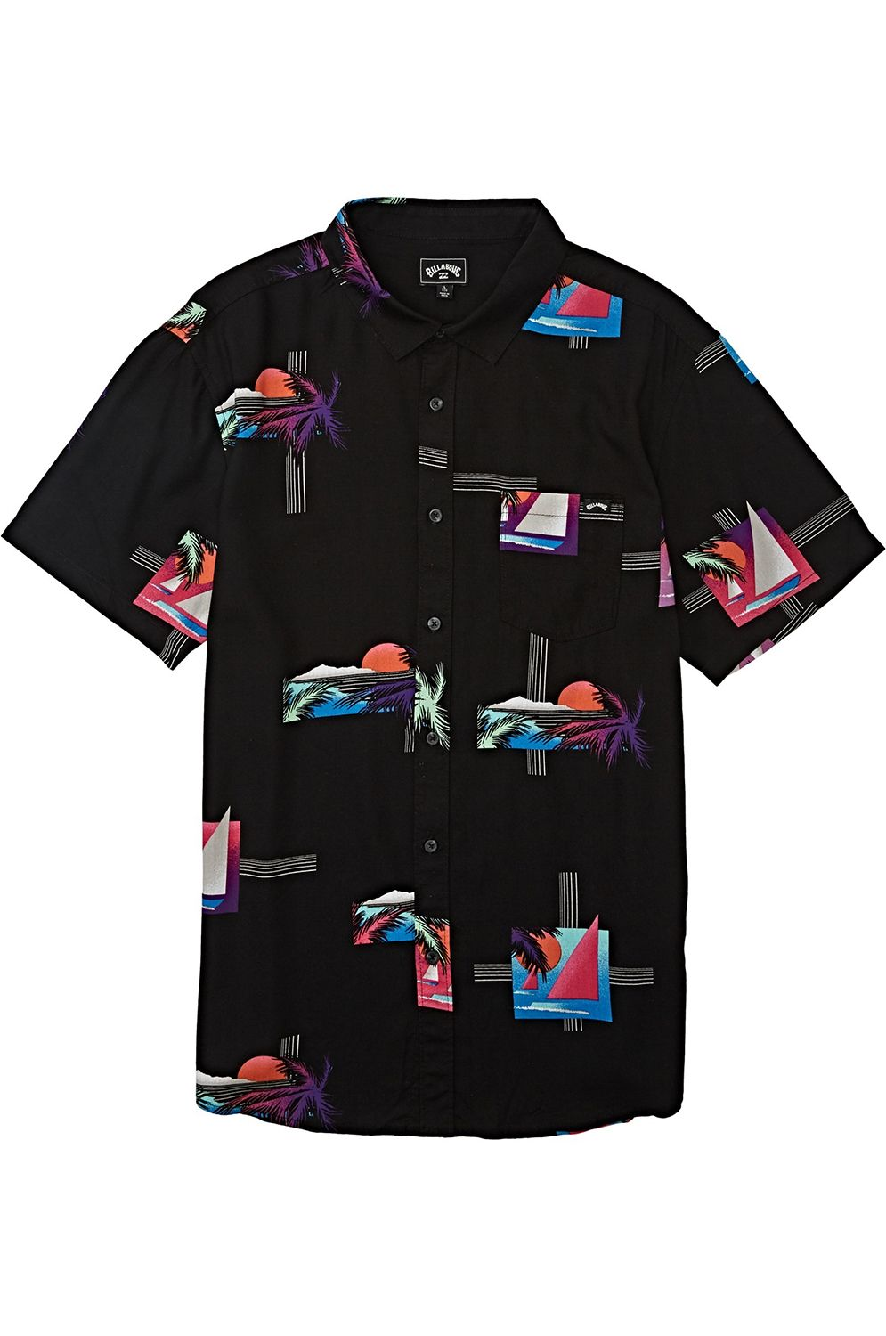 Camisa Billabong SUNDAYS FLORAL SS Black Multi
