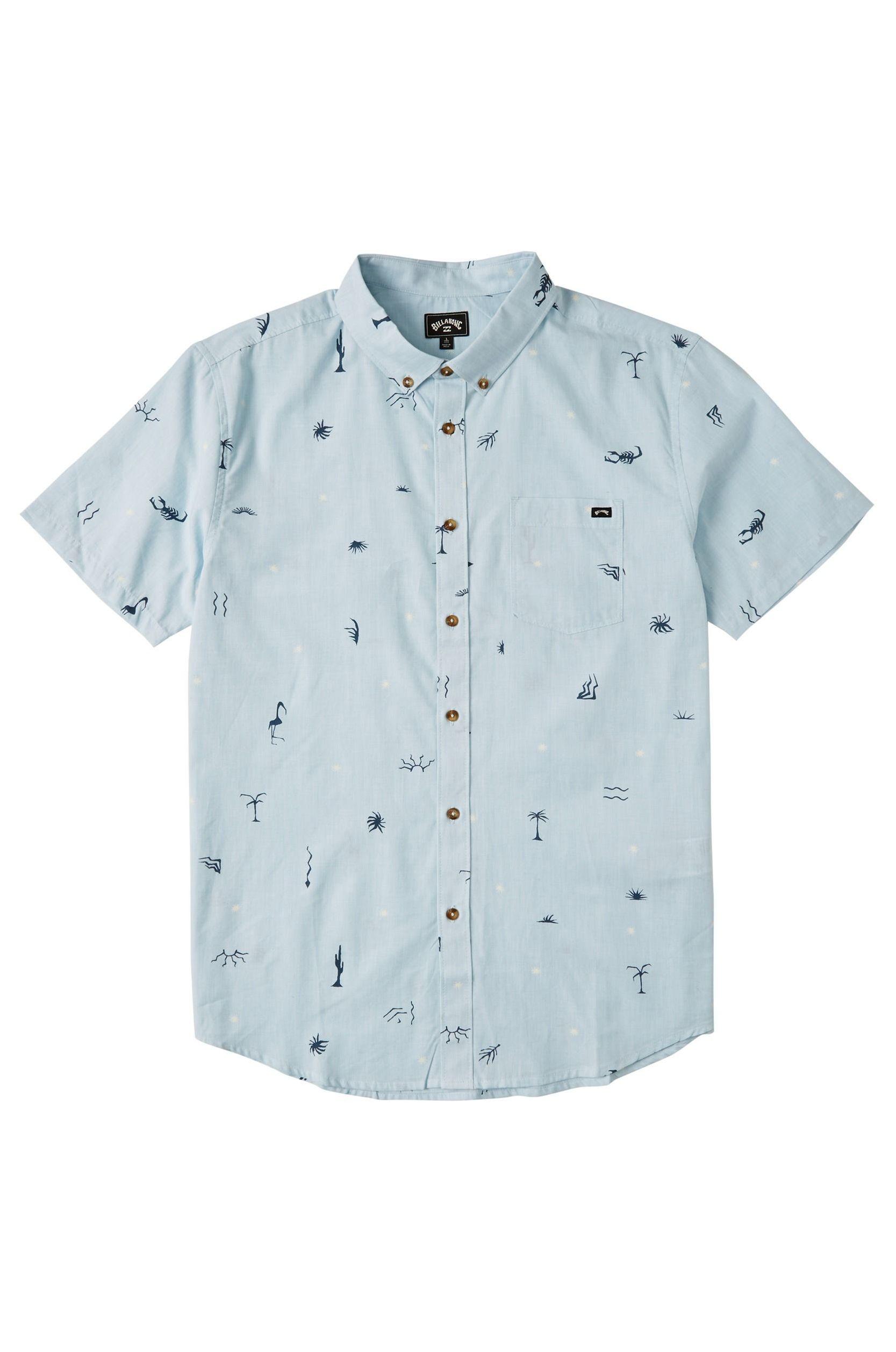 Camisa Billabong SUNDAYS MINI SS EXPRESSION SESSION Sky Blue