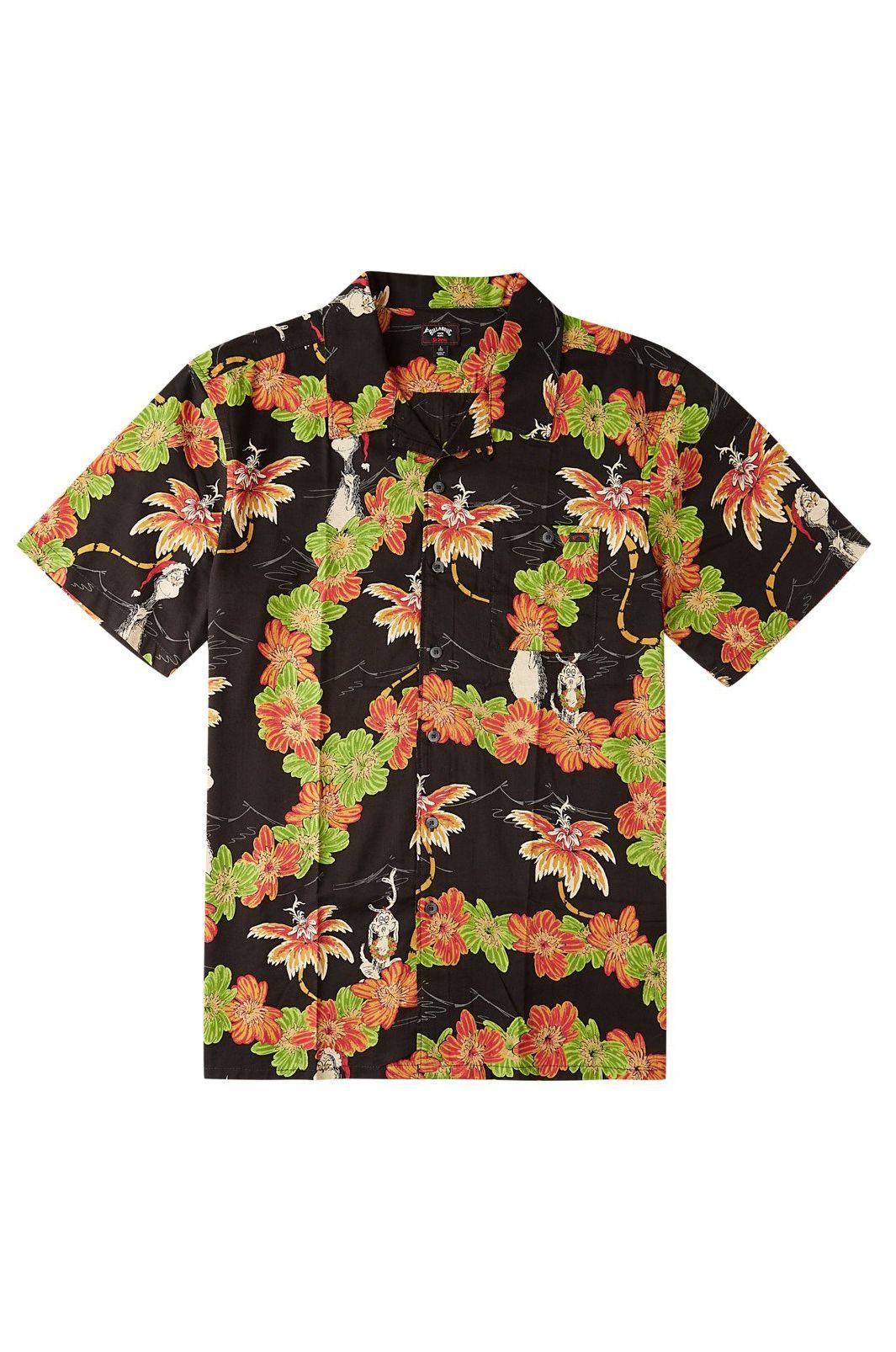 Billabong Shirt SUNDAYS VACAY GRINCH DR SEUSS Black
