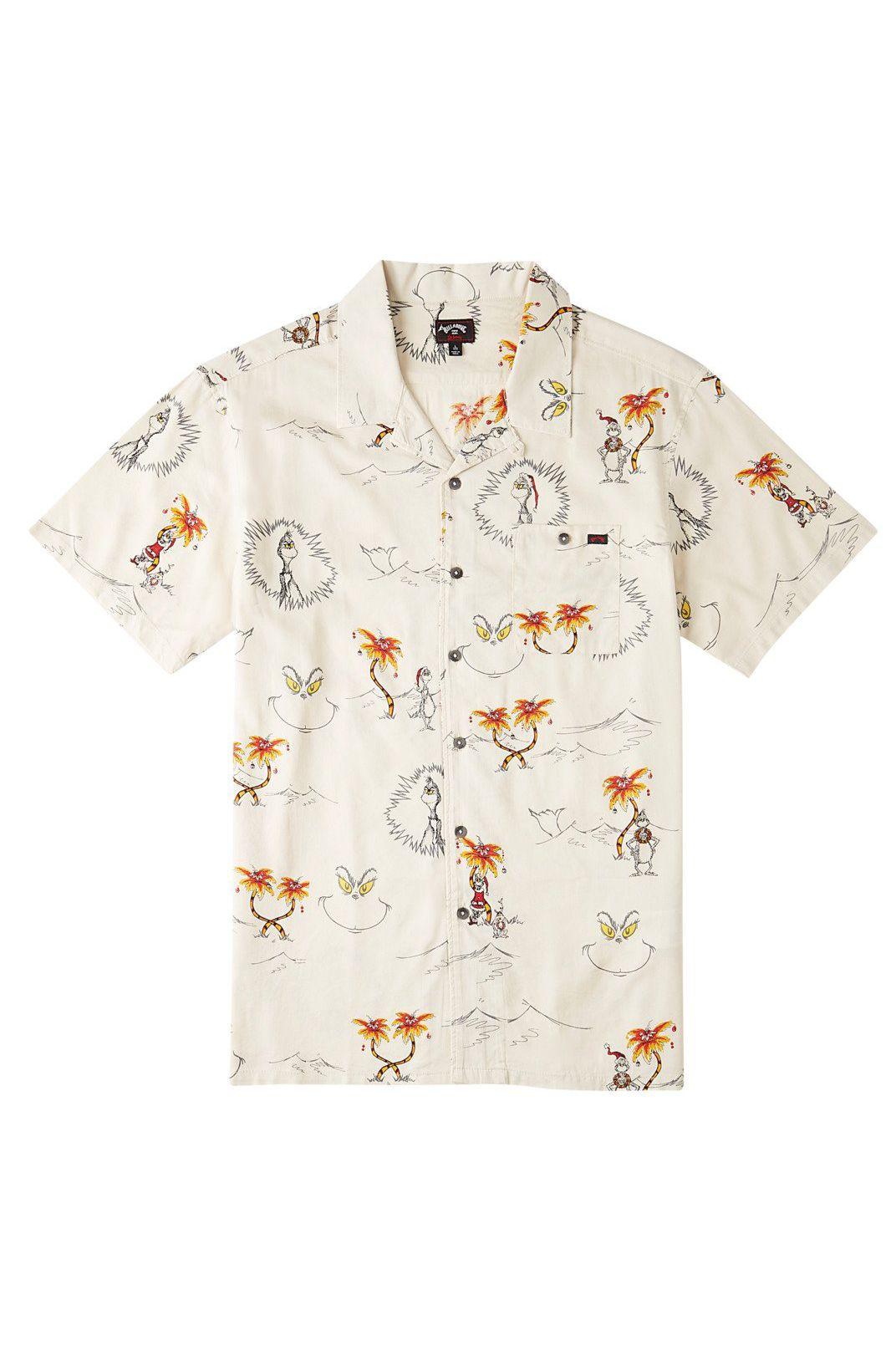 Billabong Shirt SUNDAYS VACAY GRINCH DR SEUSS Sand