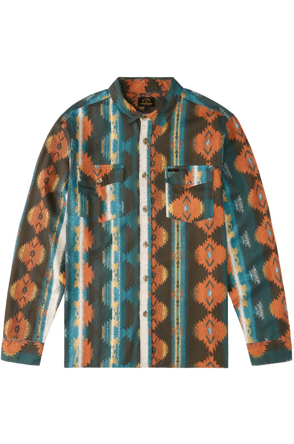 Billabong Shirt WESTWARD TWILL LS WRANGLER. Coffee
