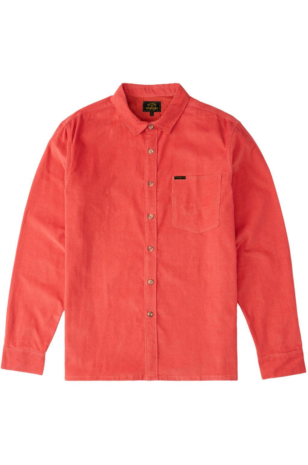 Billabong Shirt BOWIE CORD LS WRANGLER. Crimson