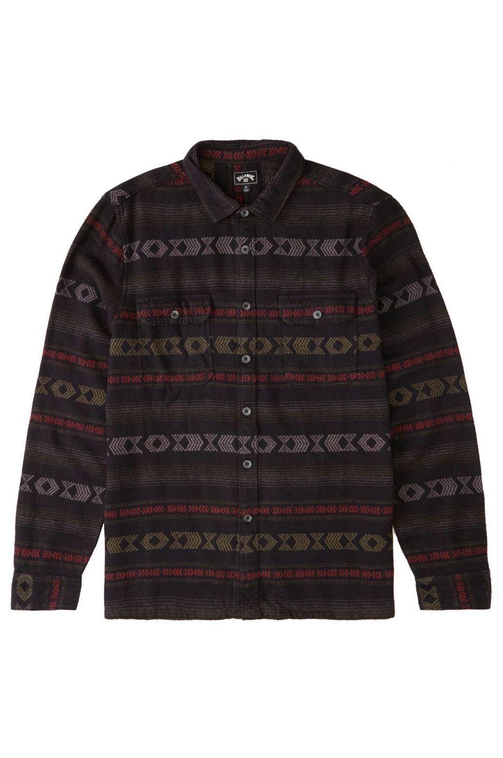 Billabong Shirt OFFSHORE JACQUARD FL Black