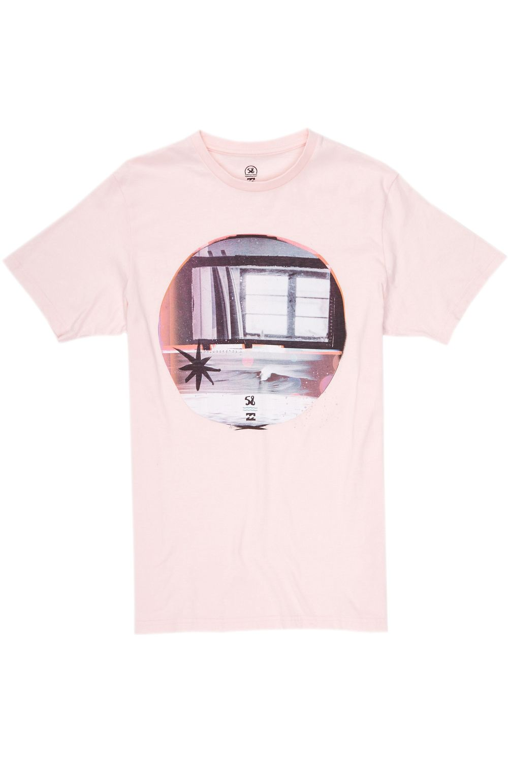 T-Shirt Billabong x 58 Surf WINDOW Light Lavander