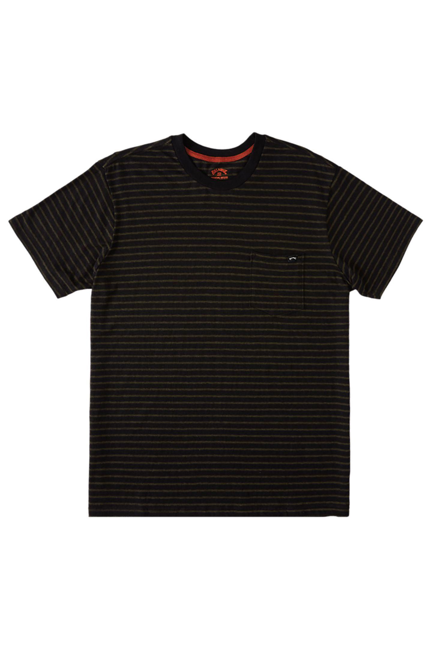 Billabong T-Shirt ELDORADO HEMP STRIPE ADVENTURE DIVISION Black