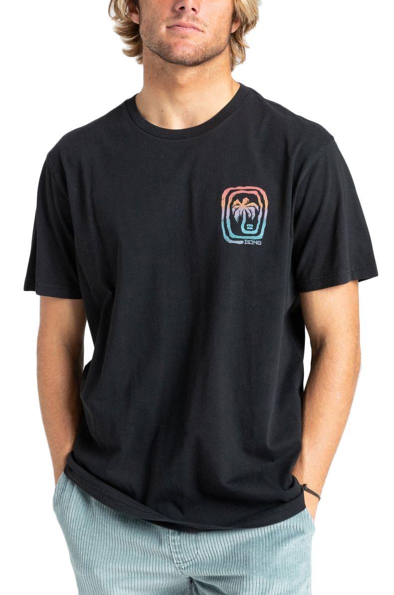 T-Shirt Billabong MAZE SS WAVE WASH Black