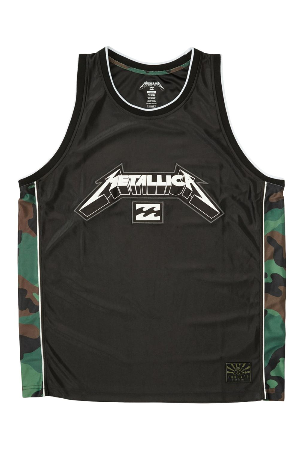Billabong T-Shirt Tank Top METALLICA AI Black