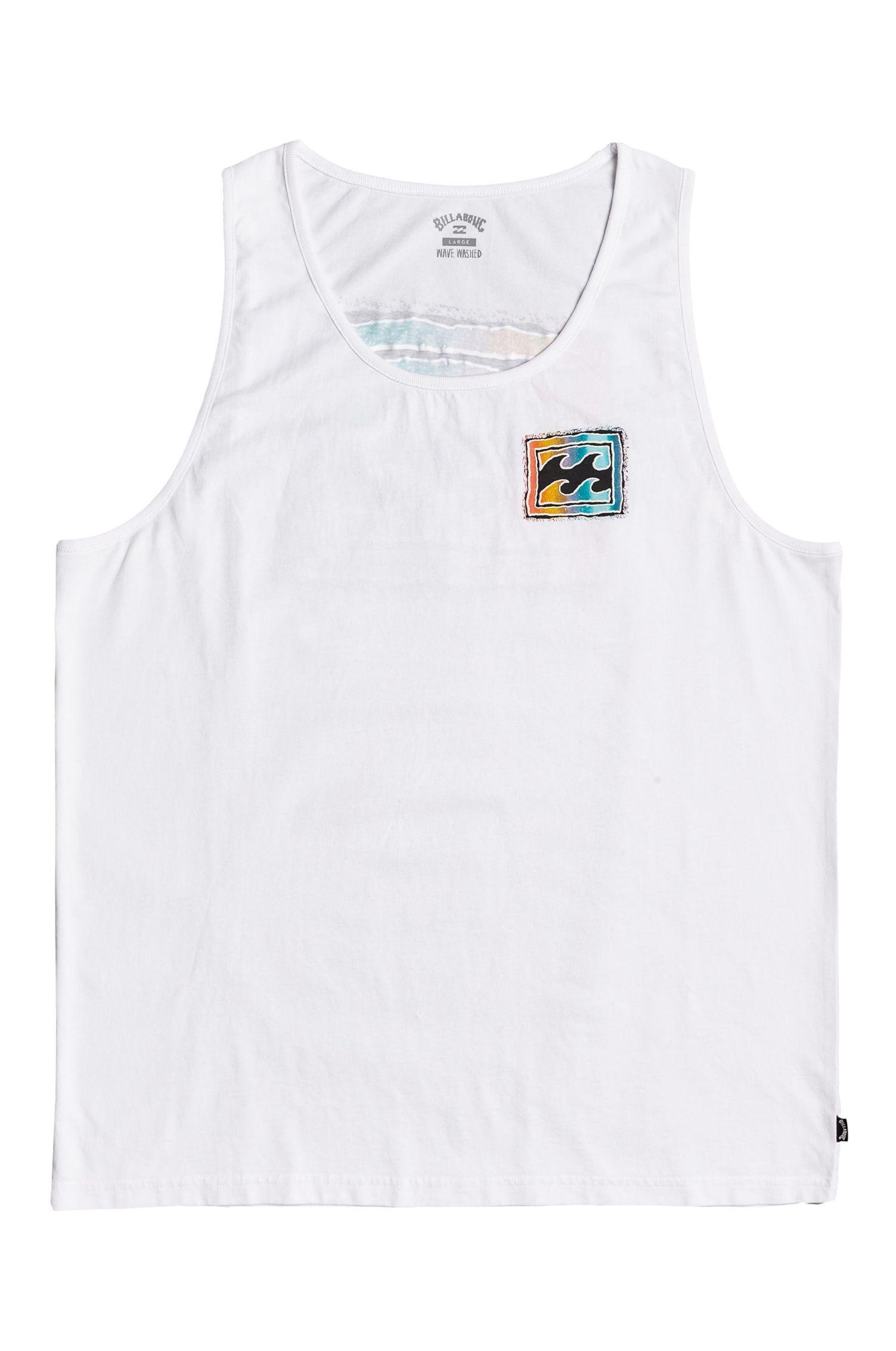 Billabong T-Shirt Tank Top HERITAGE TANK WAVE WASH White