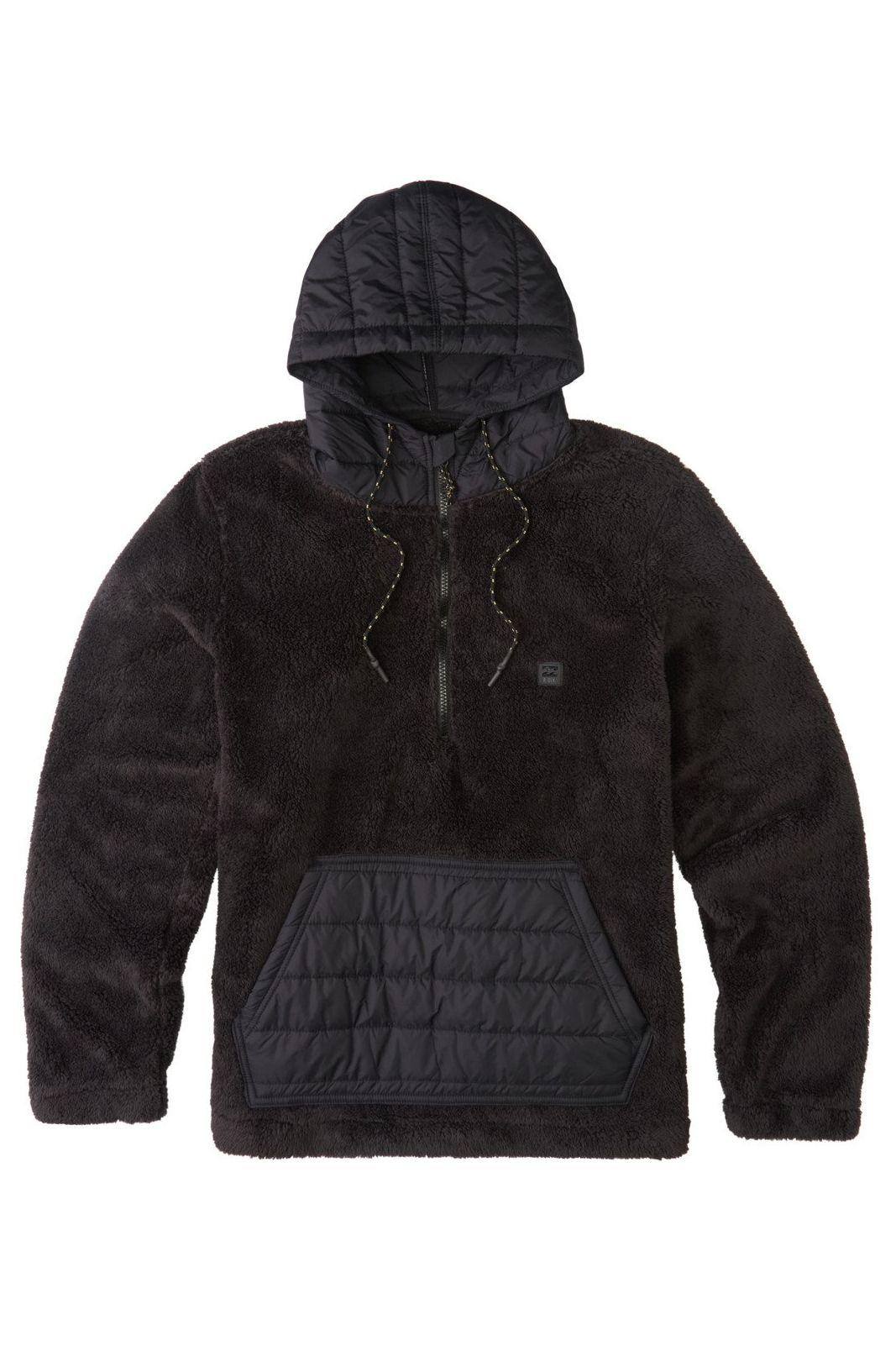 Billabong Sweat Sherpa BADGER HALF ZIP ADVENTURE DIVISION Black