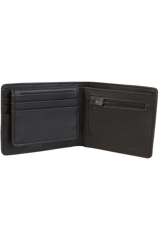 Billabong Wallet PU  DIMENSION Black Grain