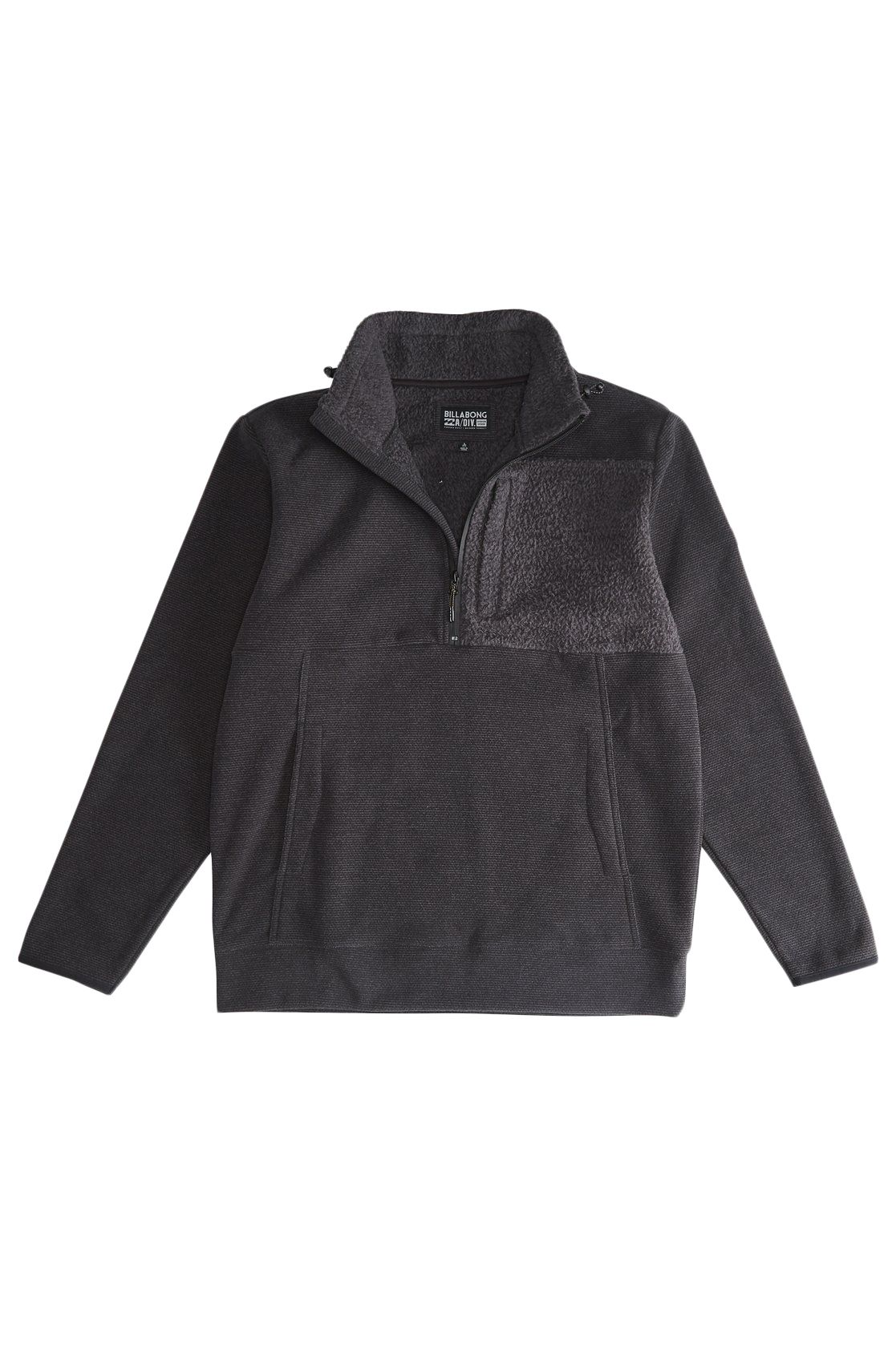 Sweat Fecho Billabong BOUNDARY MOCK HALF Z ADVENTURE DIVISION Black