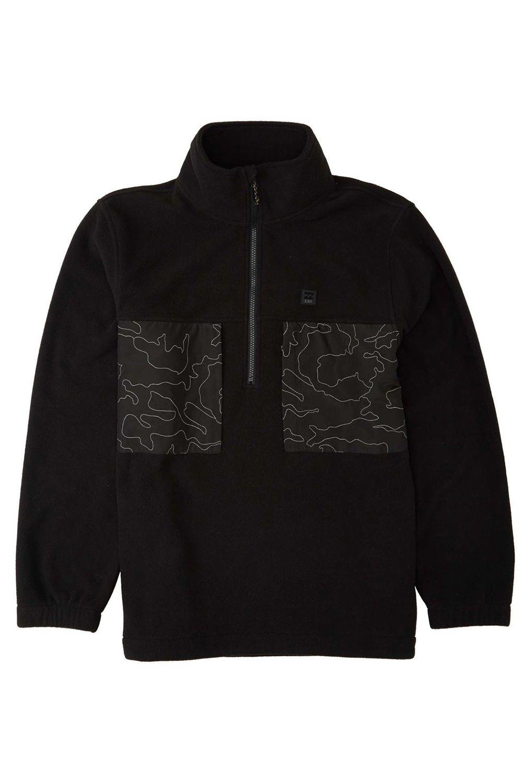 Billabong Sweat Zip Hood CANYON HALF ZIP ADVENTURE DIVISION Black