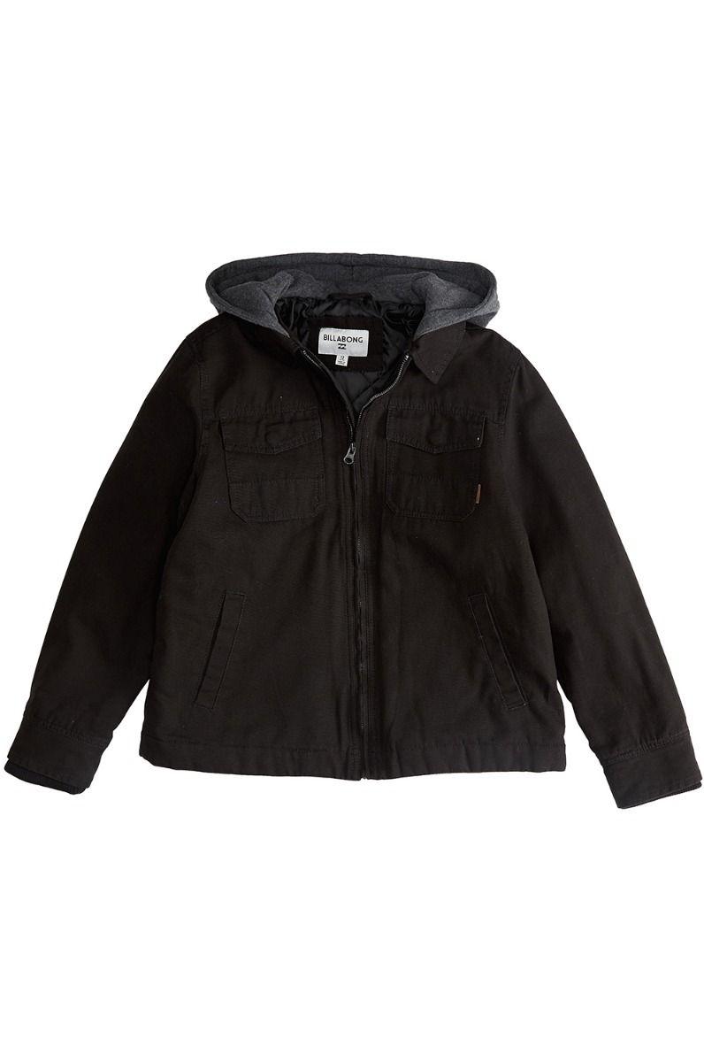 Billabong Jacket BARLOW TWILL SURFPLUS COLLECTION Black