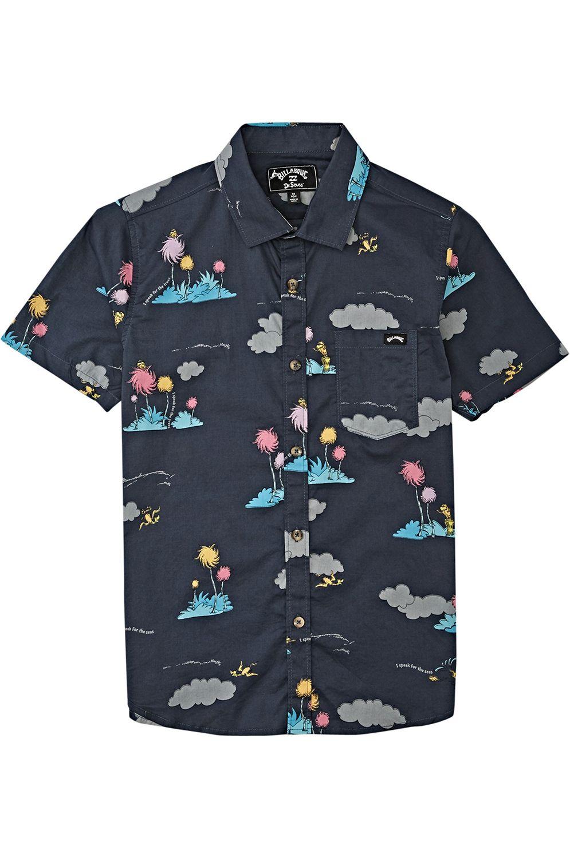 Billabong Shirt LORAX ISLAND SS DR SEUSS Charcoal