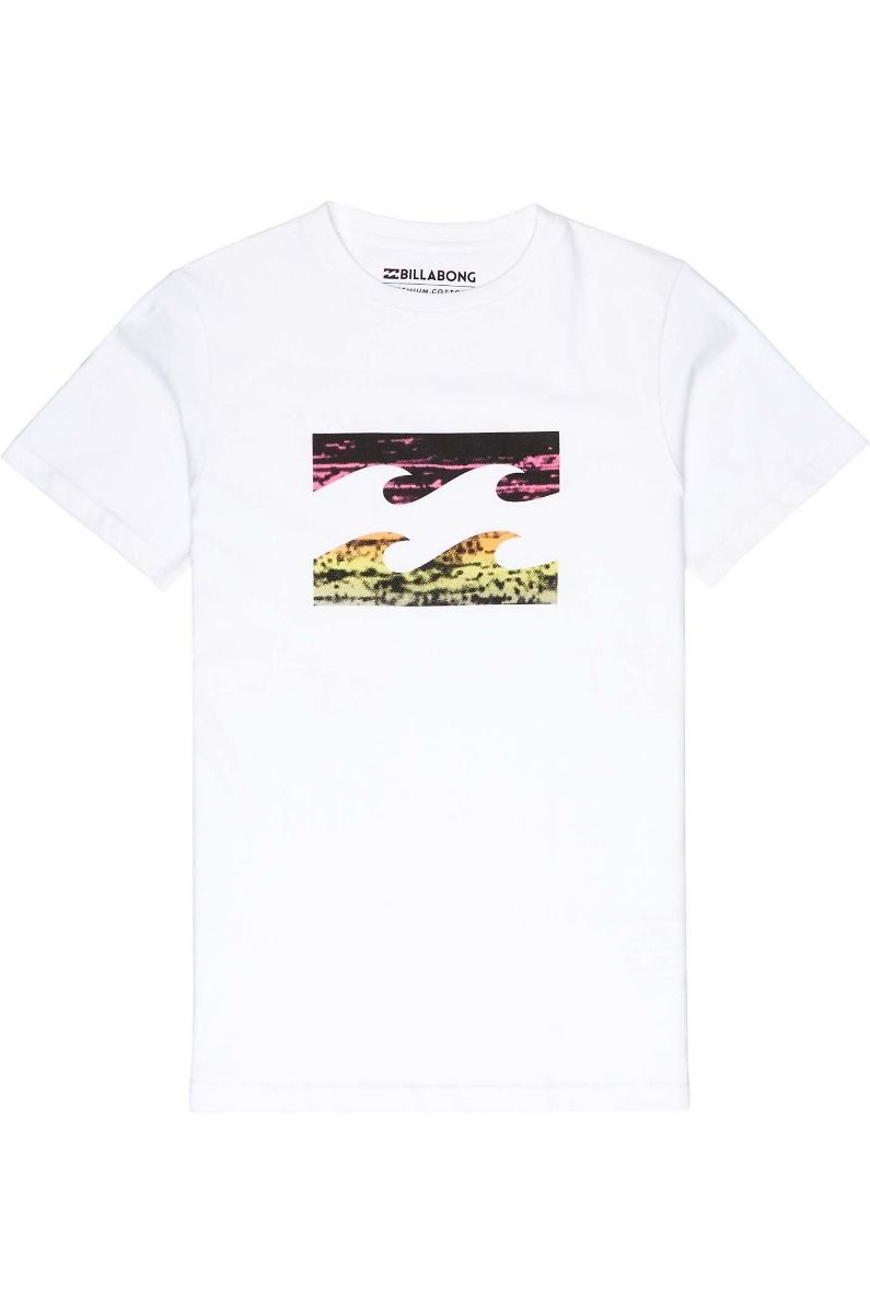 T-Shirt Billabong TEAM WAVE White