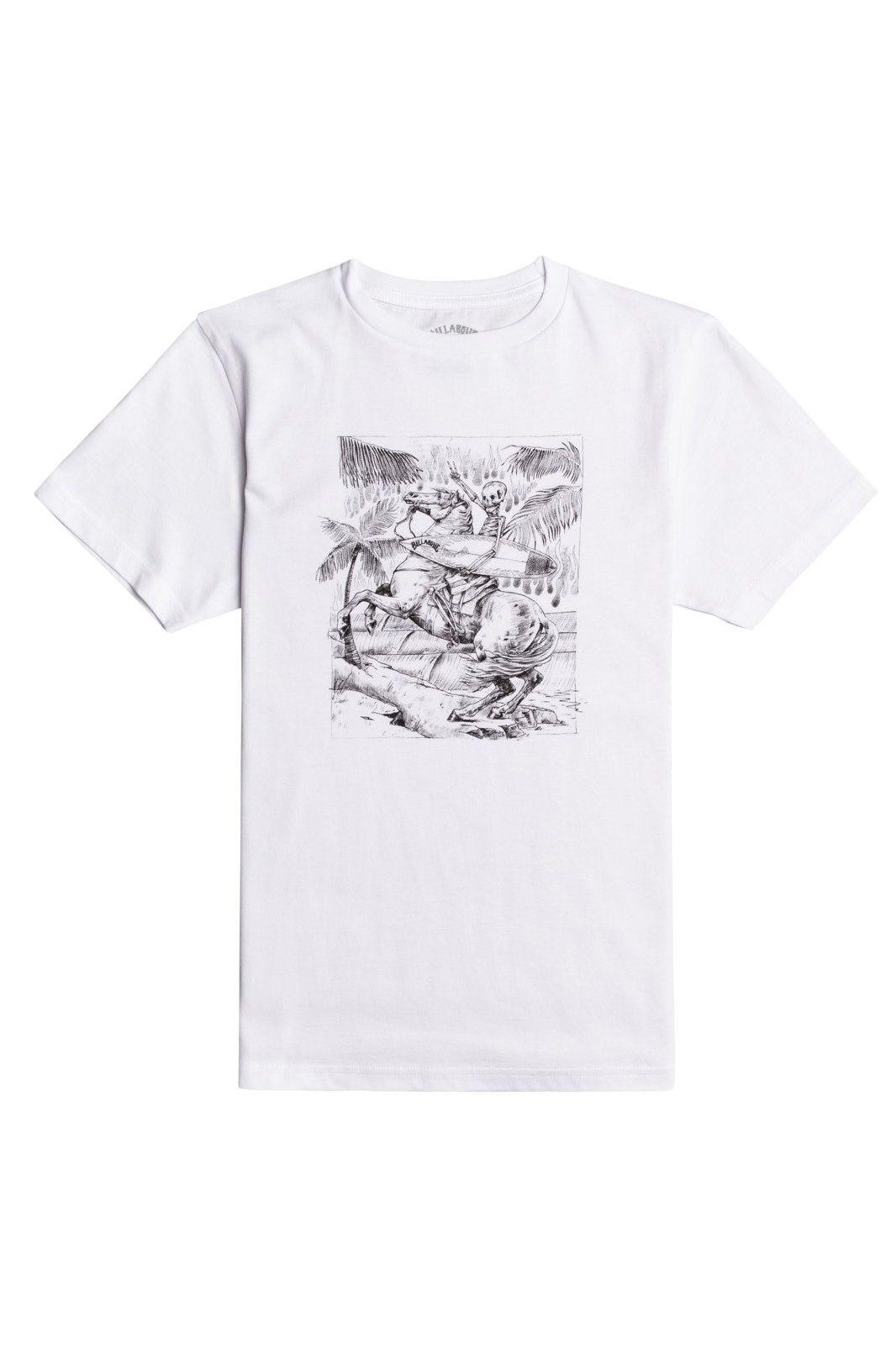Billabong T-Shirt HELL RIDE SS BOY White
