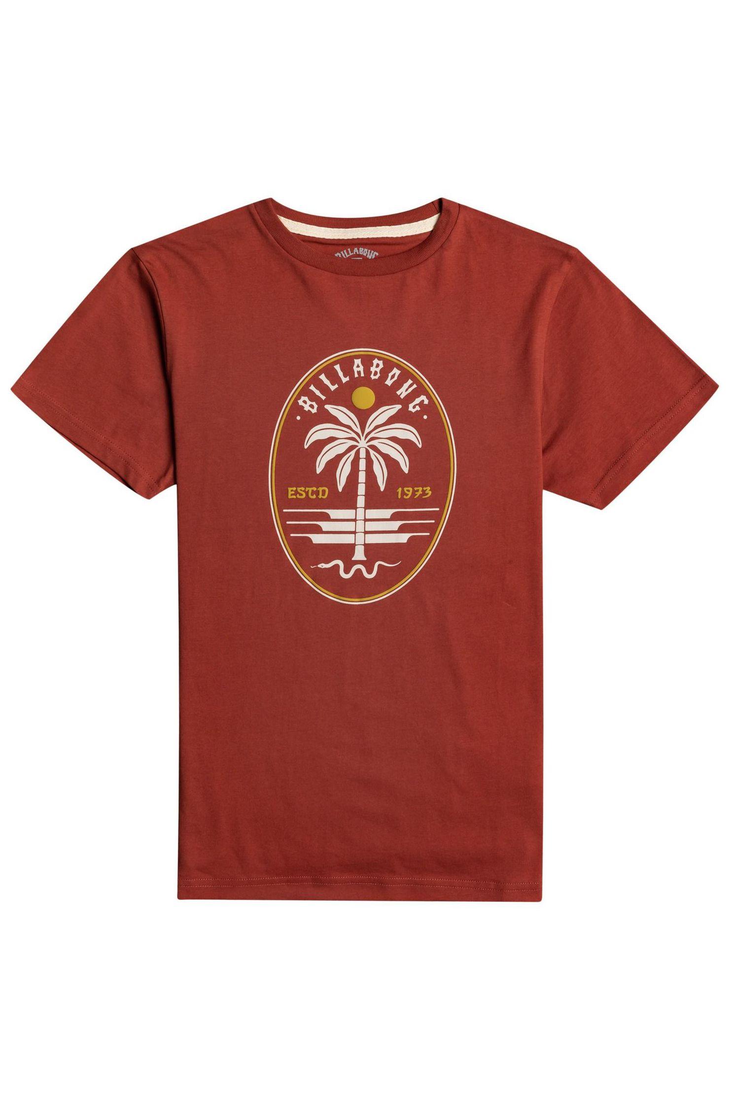 T-Shirt Billabong SNAKE SET SS BOY SPORTING GOOD PROGR. Deep Red