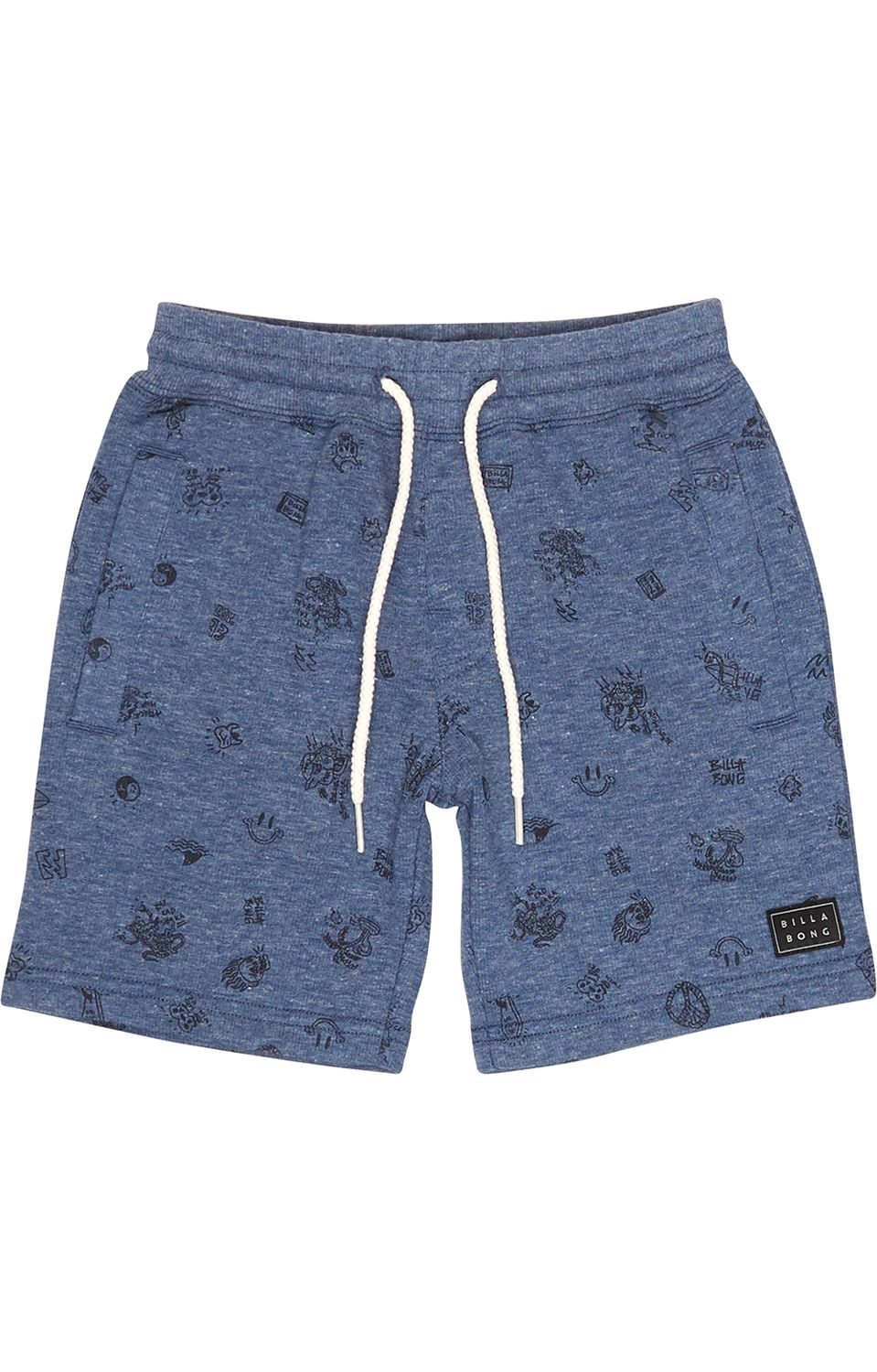 Walkshorts Billabong SCRIBBLE FLEECEALK Dark Blue Heath
