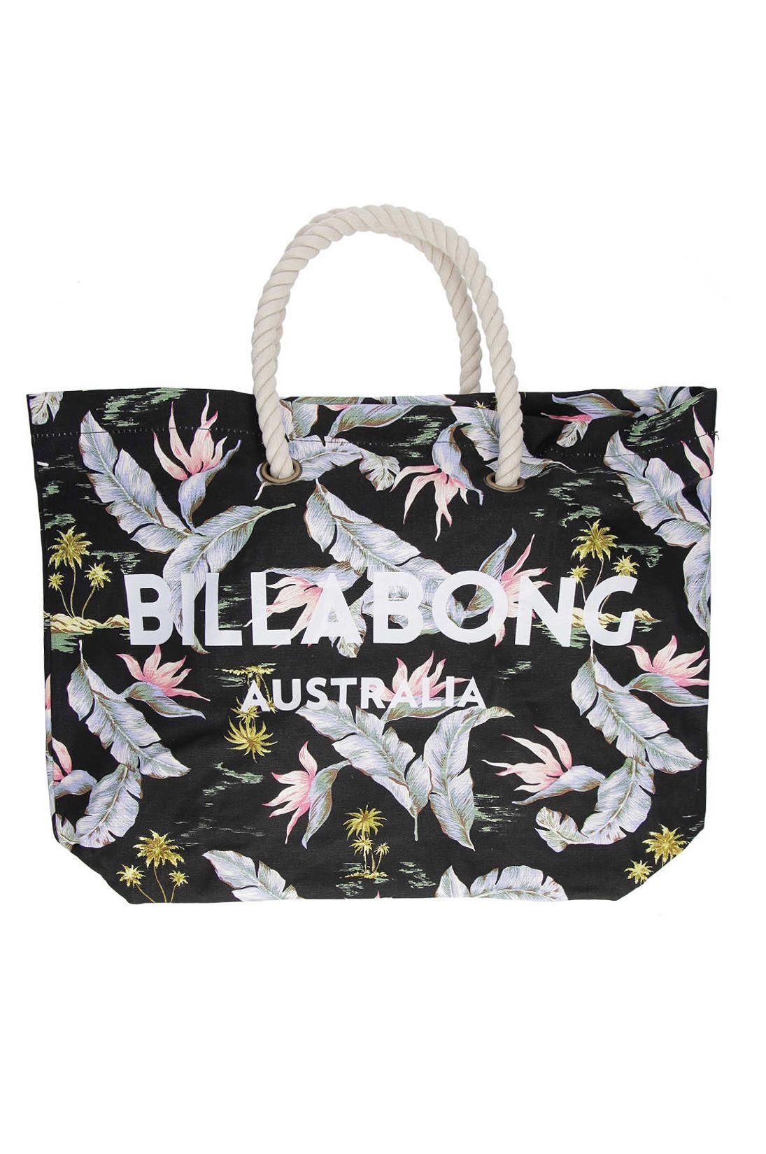 Saco Billabong ESSENTIAL BEACH BAG Black/Mint