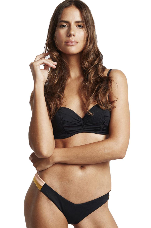 Bikini Tanga Billabong HIKE SIDE SOL SEARCHER Black Pebble