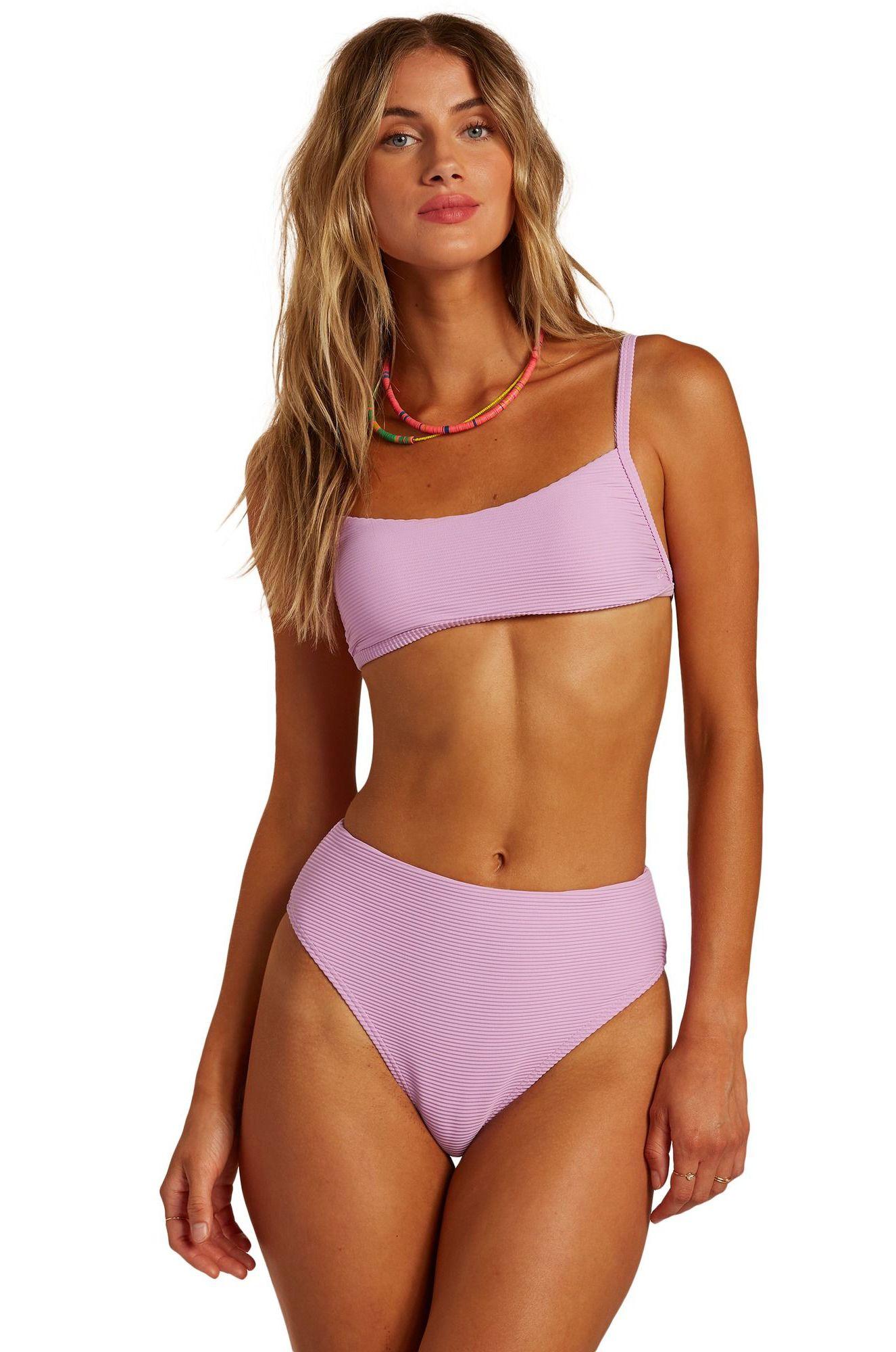 Bikini Top Billabong TANLINES BRALETTE SURFADELIC Lit Up Lilac