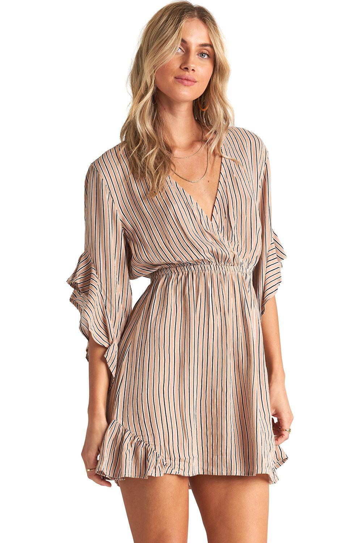 Vestido Billabong LOVE LIGHT SPORTING GOOD PROGR. Khaki Sand