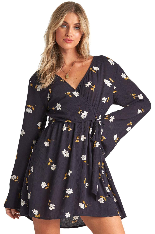 Vestido Billabong SIDE OUT Black Floral