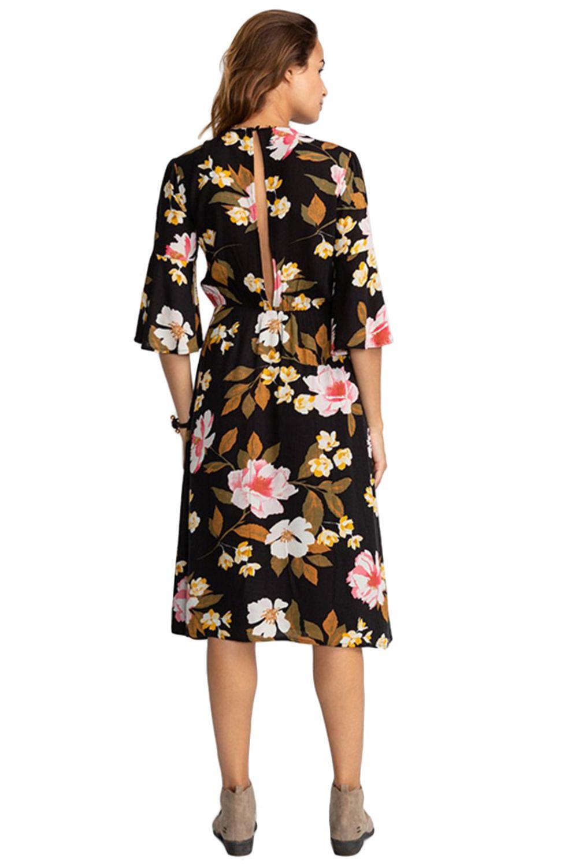 Vestido Billabong DREAM BIG Black Flower