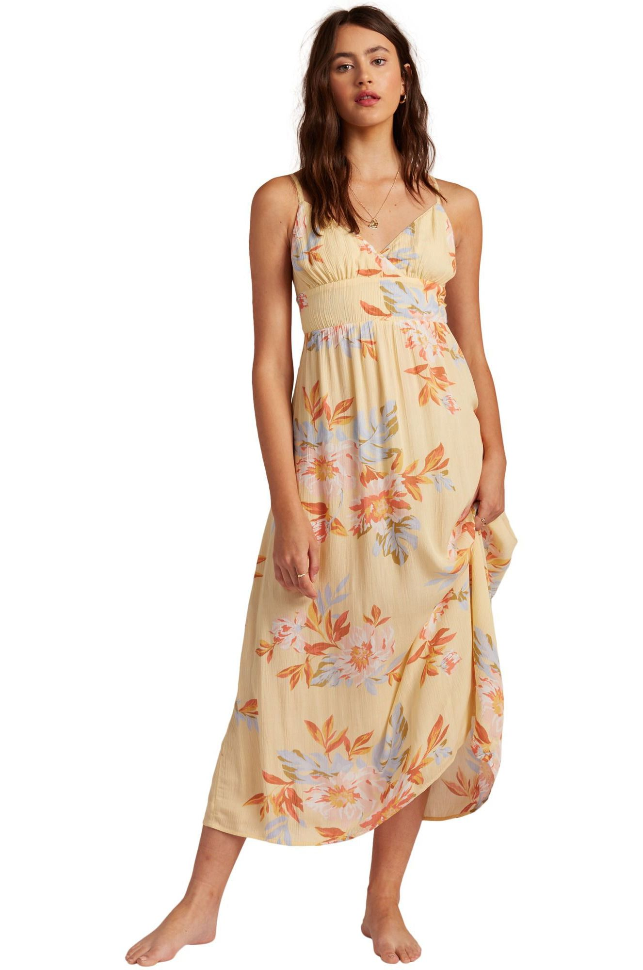 Vestido Billabong HONEY MIDI FOLLOW THE SUN Mimosa