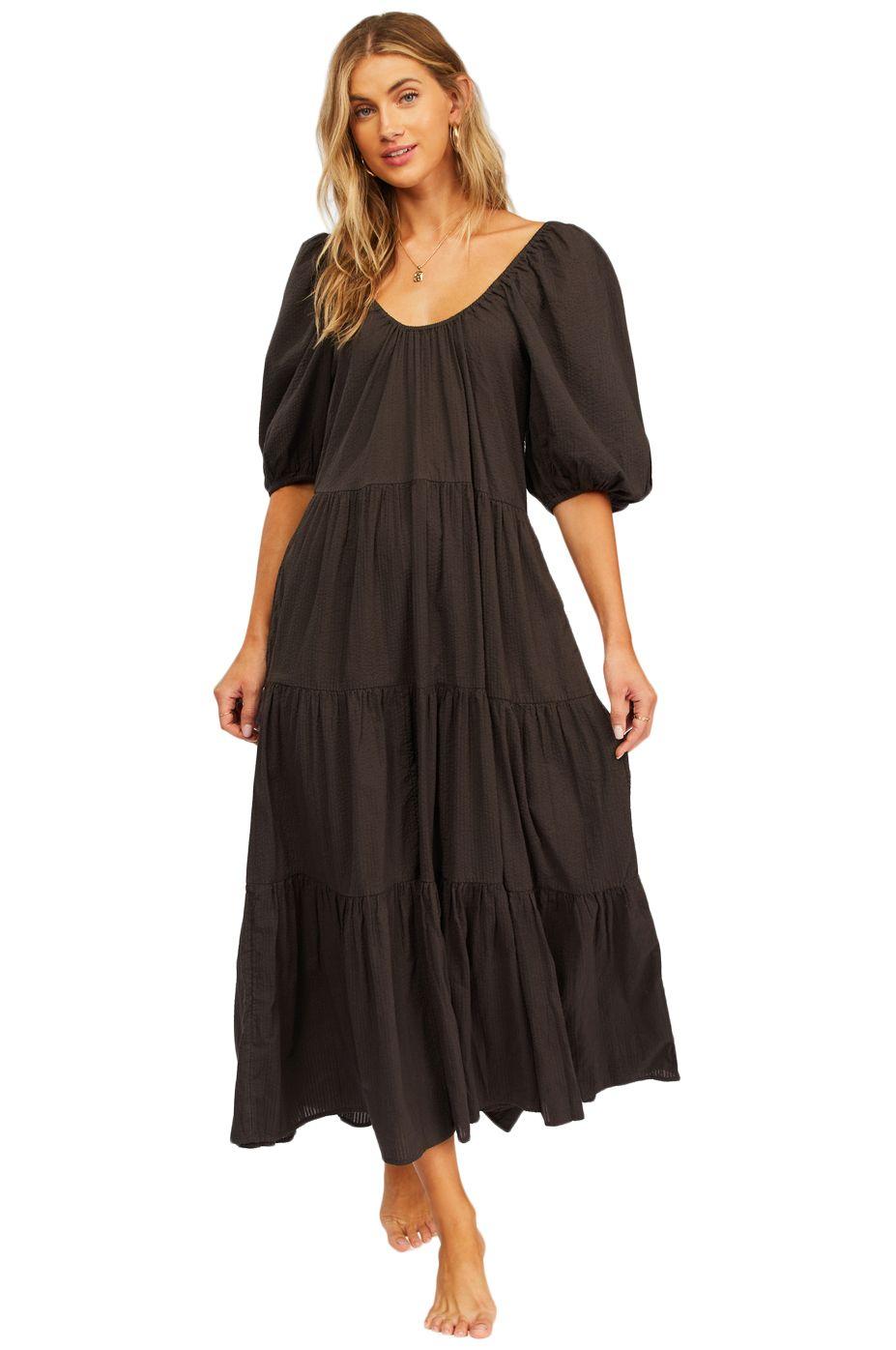 Vestido Billabong ENDLESS SHORE PARADISE FOUND Off Black