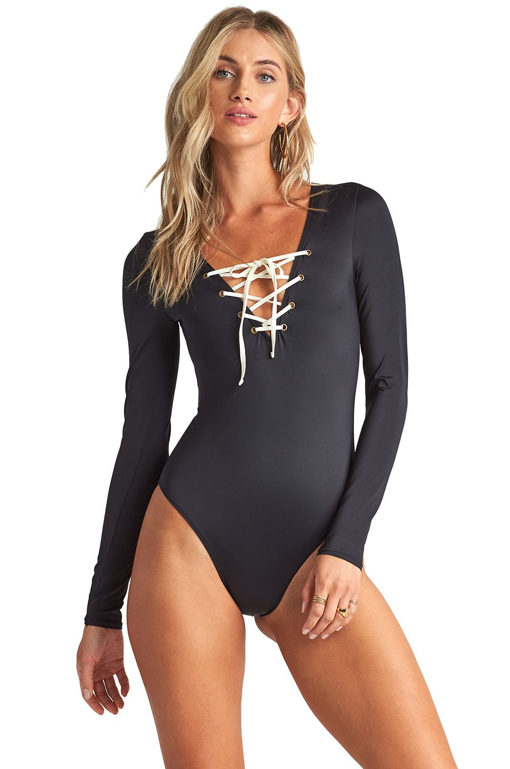 Billabong Swimsuit ONYX WAVE BOBYSUIT SURF CAPSULE Black