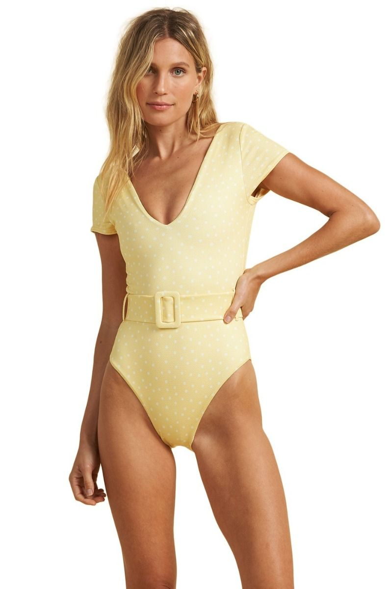 Billabong Swimsuit SUNDIPPED 1 PC SALTY BLONDE Pina Colada