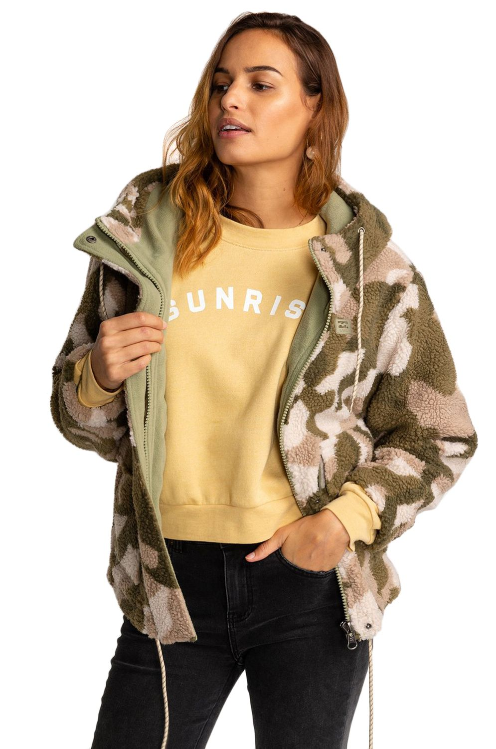 Sweat Polar Billabong HIKING LOVER ADVENTURE DIVISION Army Camo