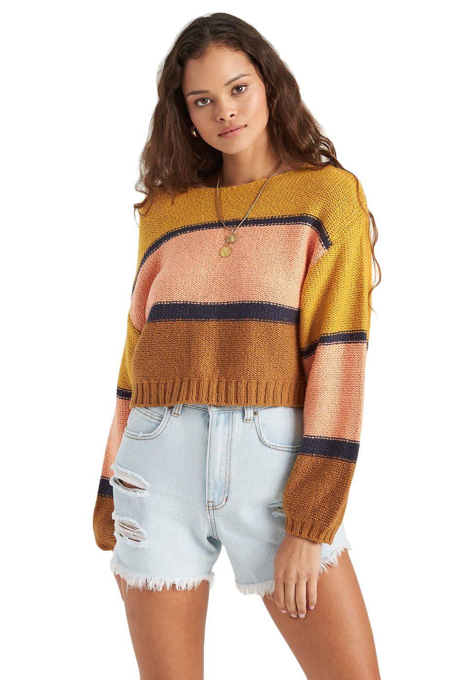 Billabong Sweater SEEING STRIPES Antique Gold