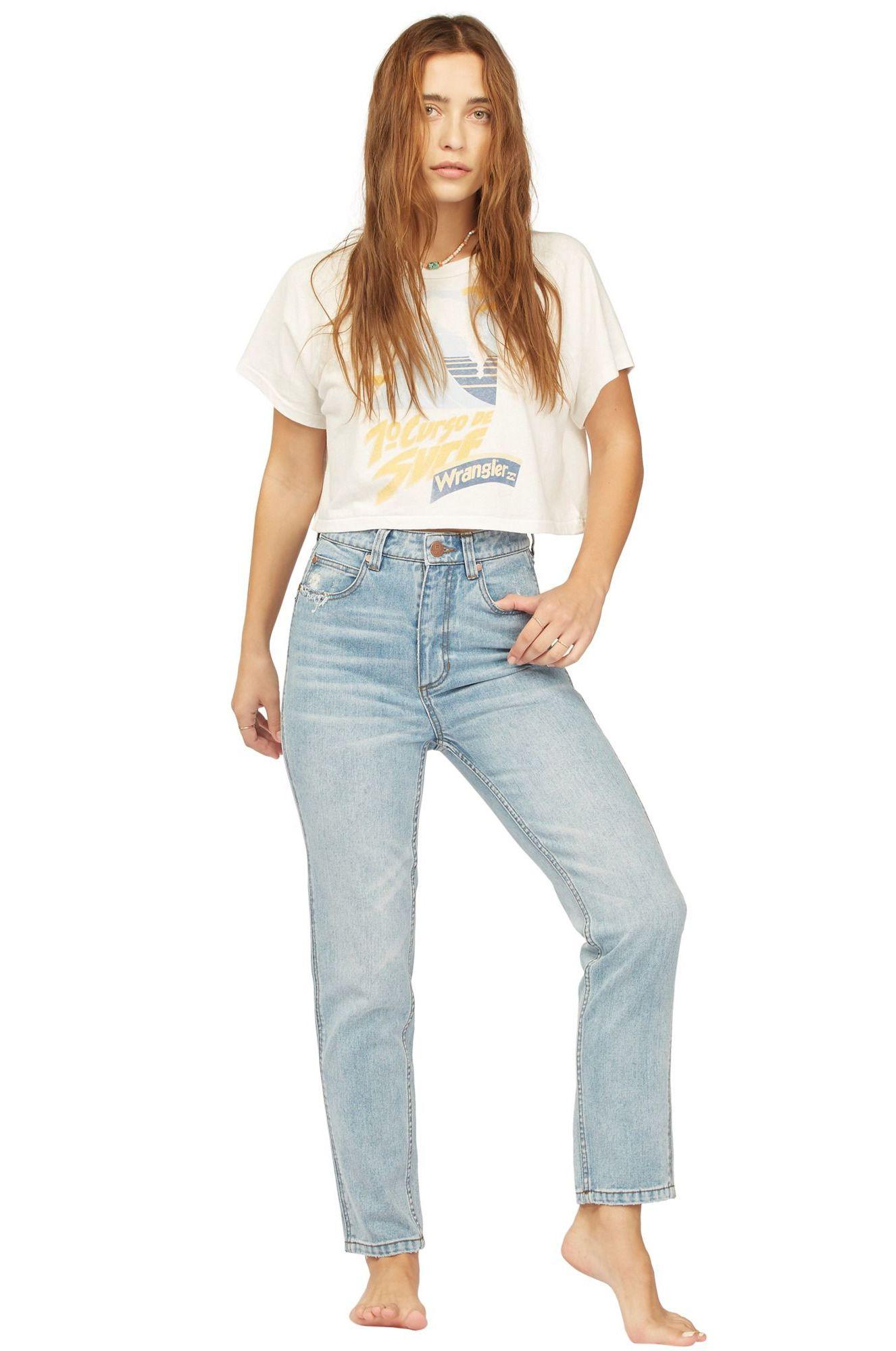 Billabong Pant Jeans SHES CHEEKY WRANGLER. Blue Surf